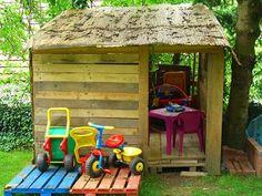 EL BLOG DE LA ELENA. UN BLOG DULCE, DIVERTIDO Y ENTRETENIDO: Reciclar Palets. Cabaña de Niños