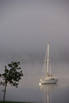 Foggy morn 2, Lake Windermere, UK