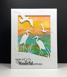 DTGD16 Shore Birds at Sunset by beesmom at Splitcoaststampers