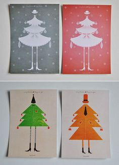 Christmas Cards from Poplife/Etsy