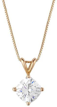 Forever Brilliant 14k Gold 1 3/4 Carat T.W. Lab-Created Moissanite Pendant