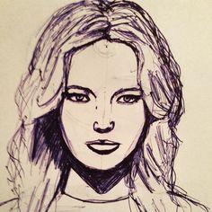 #Sketch #sketchbook #face #portrait #ballpoint #traditional #art #woman #training #study #illustration #drawing Traditional Art, Sketch, Study, Training, Woman, Portrait, Drawings, Face, Illustration