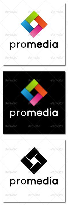 Logo - Pro Media  #GraphicRiver            Abstract Logo Template Files in Pack:  Vector Eps 10 – fully editable and resizable, contain color and black&white version  Three Hi-res Jpeg files – same as preview  Transparent Hi-res Png file for Photoshop users Used Font:  Quicksand  	      Created: 6July13 GraphicsFilesIncluded: TransparentPNG #JPGImage #VectorEPS Layered: No MinimumAdobeCSVersion: CS Resolution: Resizable Tags: abstract #color #letter #link #logo #origami #paper #square…