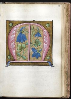 """""""M"""" Leaf from Alphabet Book   France; Paris   16th century   Walters Art Museum   Accession #: W.200.29V"""