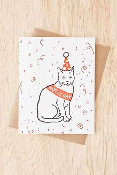 Power & Light Press Cat Birthday Party Card