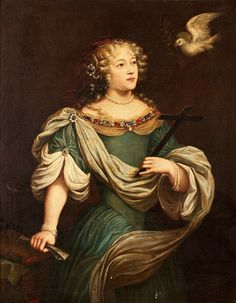 Louise de la Valliere as St Helena, 1660 (school of Abraham Janssens) Louis Xiv, Historical Art, Historical Costume, Historical Clothing, 17th Century Fashion, 17th Century Art, French History, Art History, Ludwig Xiv