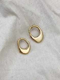 BY NYE | Fluid Earrings in 23ct Hard Gold Plated | The UNDONE #GoldEarrings #GoldJewelryearringsjewlery