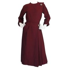 Stunning 1950s Christian Dior New York Dinner Dress | From a collection of rare vintage day dresses at https://www.1stdibs.com/fashion/clothing/day-dresses/