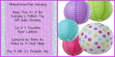 Enter to win a set of paper lanterns from @BobeeInc as part of the #ForeverMom #EverydayisMothersDay Month long #GiftGuide May 14 - 28 http://wp.me/p4gqw6-1Bb
