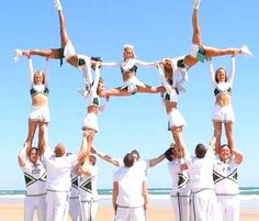 For all who know me...I secretly have always wanted to be a stunt cheerleader.