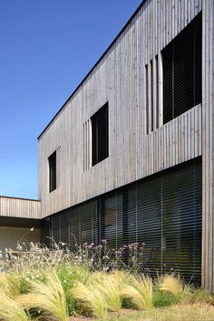 """Timber-framed """"bioclimatic"""" Residence With Larch Cladding By Tectoniques Larch Cladding, House Cladding, Saint Palais, Scandinavian Garden, Houses In France, Interior Design Boards, Australian Architecture, Modern House Design, Architecture Details"""
