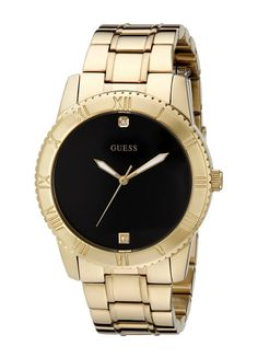 Guess Gold-Tone Diamond-Accented Men'S Watch U0416G2