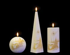 Golden Star - Two Little Candles Golden Star, Beautiful Candles, Handmade Candles, Pillar Candles, Stars, Crafts, Decor, Manualidades, Decoration