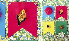 Bandeiras estilizadas com a arte de Quilling. Um charme só!