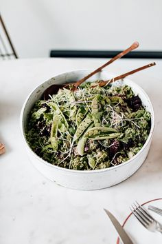 Vegan Green Goddess Broccoli Salad - Christiann Koepke