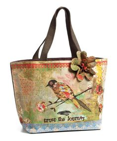 Look at this #zulilyfind! Green & Blue 'Trust the Journey' Tote by Kelly Rae Roberts, $25 !!  #zulilyfinds