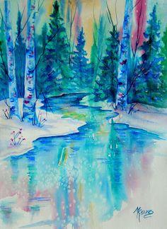 Calm, cool mountain stream. Martha Kisling Fine Art