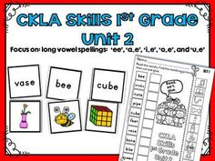 Long Vowel Match Activity CKLA 1st Grade Skills Unit 2 This activity is great for stations and workshops. The specific long vowel spelling patterns in this activity come from the CKLA 1st Grade Skills Unit 2. •Long Vowels: ee, a_e, i_e, o_e, u_e. •Includes 50 different long vowel words and pictures to use as a matching activity. •Includes 5 different cut and paste worksheet pages to reinforce long vowels.