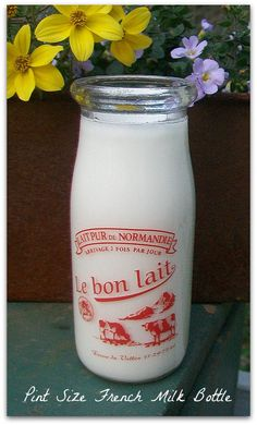 French Dairy Milk Bottle