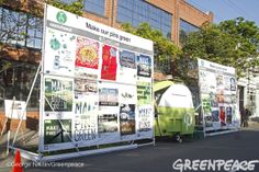 """Greenpeace visited the Pinterest HQ in San Francisco asking them to """"Make Our Pins Green"""" with designs submitted by several Pinterest users!   Go Green Pinterest! http://www.greenpeace.org/usa/clickclean/#act #clickclean"""