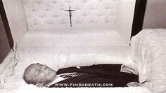 Bing Crosby in his coffin.