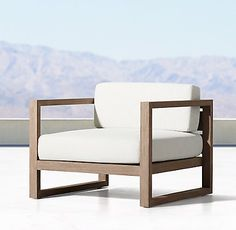 I love this. Aegean Teak Lounge Chair from Restoration Hardware - 1195$