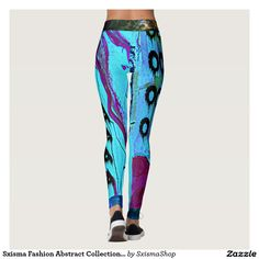 Shop Sxisma Fashion Abstract Leggings created by SxismaShop. Designer Leggings, Look Cool, Body Types, Dressmaking, Hand Sewing, Things That Bounce, Cool Designs, Cool Stuff