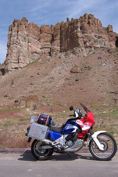Honda Africa Twin at Fossil, Oregon