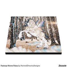 Fantasy Horse Fairy Canvas Print