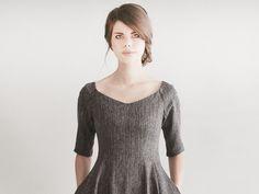 Entdecke lässige und festliche Kleider: S.A.R.A.H greymelange dress made by Femkit via DaWanda.com