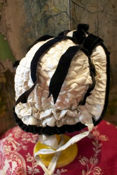 Antique Luxury French Silk Bonnet