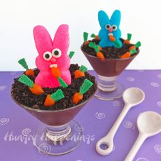 Hungry Happenings: Peeps Party - Raiding the Carrot Patch Peeps Pudding