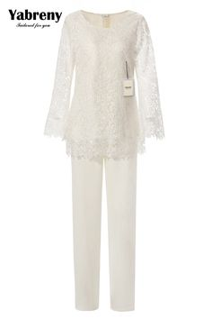 Find More Mother of the Bride Dresses Information about Yabreny Elegant Ivory Lace Pantsuit for mother of bride 2PC Outfit MT0017010,High Quality lace venice,China lace polish Suppliers, Cheap lace mittens from Yabreny Soochow Store on Aliexpress.com