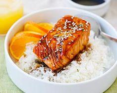 Salmon with Orange Teriyaki Glaze - Rasa Malaysia