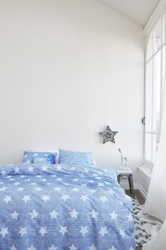 Bedding Blue Starry Sky for your bedroom. Made in Netherlands.
