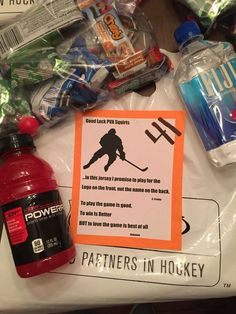 hockey survival kit | Hockey, Hockey girls, Hockey crafts