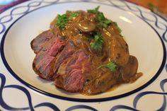 Beef Tenderloin Tips with a Bourbon Mushroom Sauce - thekittchen