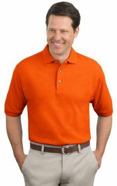 408efe6c0b5 Port Authority Men s Pique Knit Polo Shirt Mens Tall Shirts
