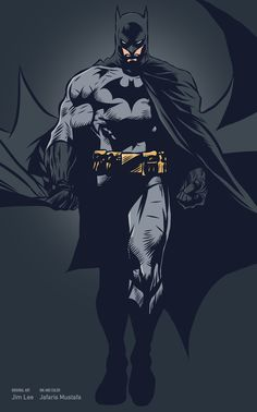 Batman by Jim Lee, inks and colours by Jarafris Mustafa