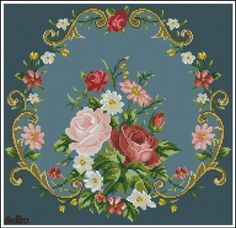 ru / Fotoğraf # 82 - B Cross Stitch Pillow, Cross Stitch Rose, Cross Stitch Flowers, Cross Stitch Charts, Cross Stitch Designs, Cross Stitch Patterns, Jacobean Embroidery, Embroidery Patterns Free, Beaded Embroidery