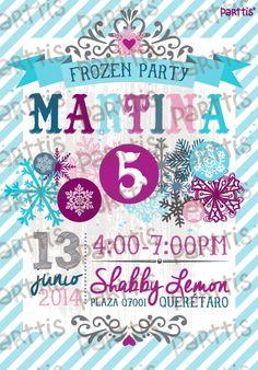 Invitación inspirada en la película Frozen :: Frozen inspired invitation