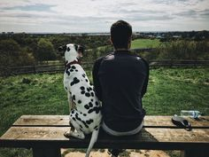 Domestic Animals One Animal Pets Rear View Mammal Dog Day Sitting Nature Field Real People Outdoors Leisure Activity Sky Landscape One Person Tree Grass Standing Men