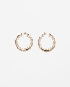 MINI PEARL HOOP EARRINGS-NEW IN-WOMAN | ZARA United States