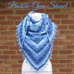 Bubble-Gum Shawl - Crystals & Crochet