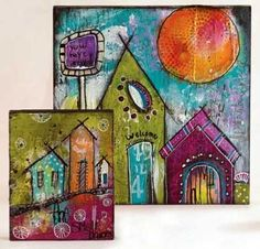 Spoiler: Jodi Ohl will challenge you to dream in color | ClothPaperScissors.com #mixedmedia #art #color