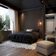 Unbelievable Tips Can Change Your Life: Modern Minimalist Home Office minimalist bedroom inspiration ceilings.Minimalist Bedroom Furniture Home minimalist bedroom small girl. Luxury Bedroom Design, Master Bedroom Design, Home Decor Bedroom, Modern Interior Design, Master Bedrooms, Bedroom Ideas, Dark Bedrooms, Ikea Bedroom, Bedroom Designs