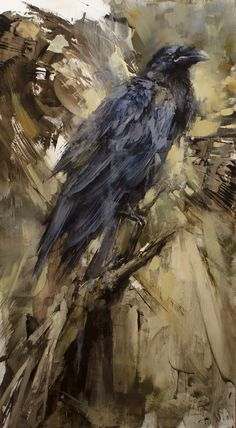 Standing Among the Giants - A Wild Light Is Never Lost ~ Oil painting by Lindsey Kustusch Crow Art, Raven Art, Crow Spirit Animal, Crow Painting, Art Watercolor, Bird Artwork, Cool Sketches, Pretty Art, Religious Art