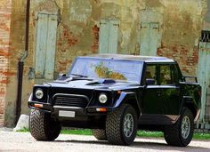 Lamborghini LM002 (1986 - 1993). The LM002 is the first four-wheel drive model manufactured by Lamborghini.