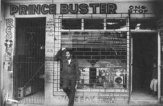 Prince Buster, in front of his record shop Reggae Art, Reggae Music, Music For You, Music Is Life, Prince Buster, Dancehall Reggae, Jamaican Music, Al Capone, Rude Boy