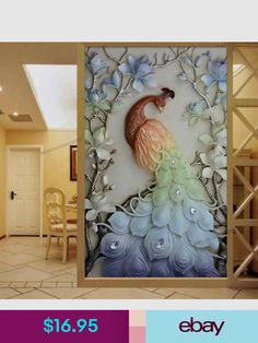 Cross paintings - special drill Cartoon animal round diamond embroidery peacocks cross stitch embroidery full home and hotel decorative hot sale Peacock Wall Art, Peacock Painting, Diy Painting, Painting Canvas, Clay Wall Art, Mural Wall Art, Mosaic Animals, Plaster Art, Cross Crafts